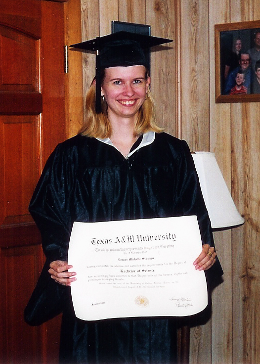 showing off the diploma