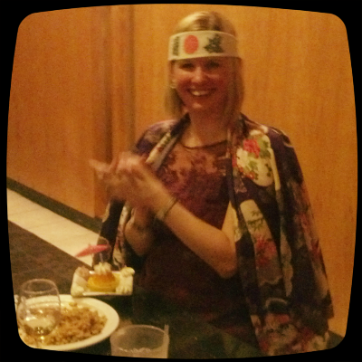 Birthday fun at the hibachi
