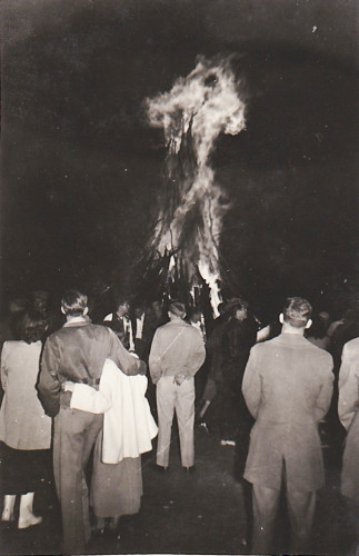 Late 1940s Bonfire -- from my grandparent's archives.